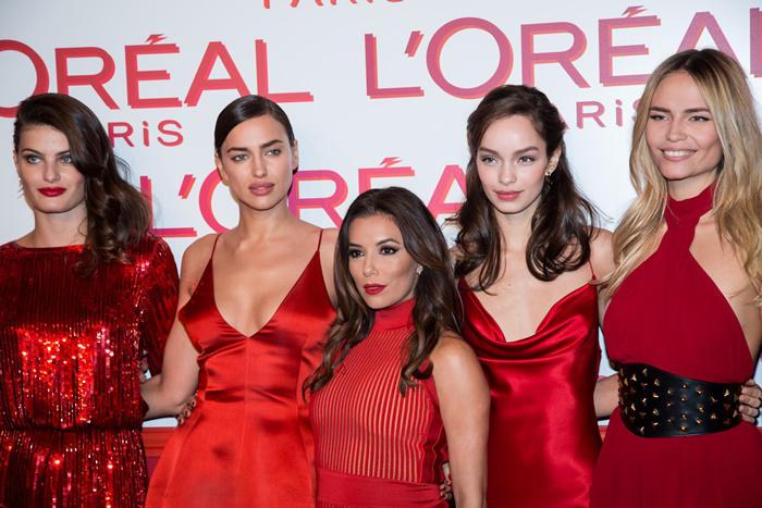 Irina Shayk y Eva Longoria fiesta Red Obsession L'Orèal