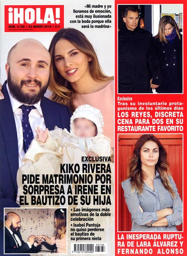 Kiko Rivera e Irene Rosales portada ¡Hola!