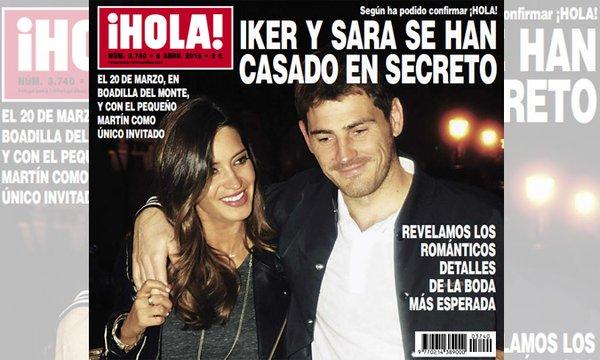Sara Carbonero y Casillas portada ¡Hola!
