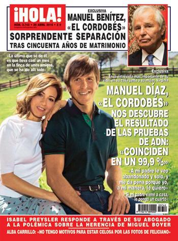 Manuel Díaz 'El Cordobés' portada ¡Hola!