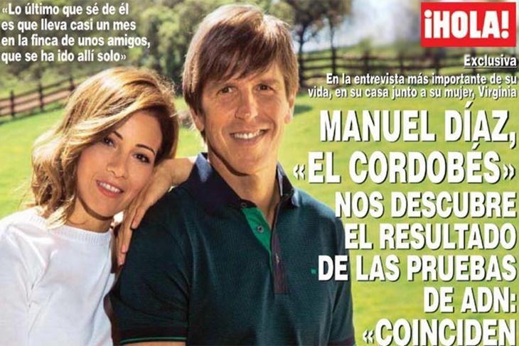 Manuel Díaz 'El Cordobés' anuncia en exclusiva la prueba de ADN