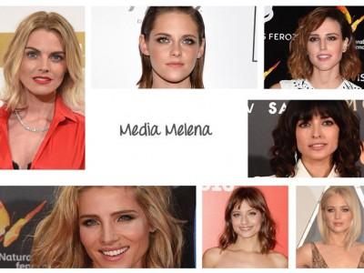 Media melena, el corte de pelo preferido de las famosas