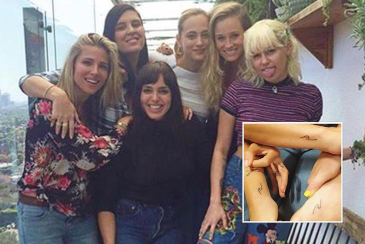 Elsa Pataky y Miley Cyrus, ¡tatuajes a juego!