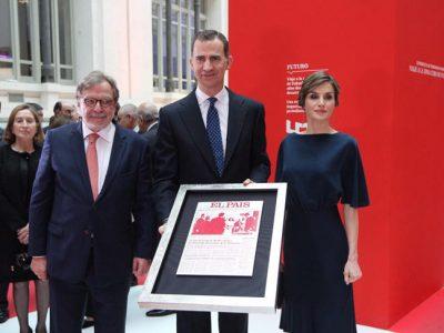 La Reina Letizia con nuevo look en el 40º Aniversario de El País