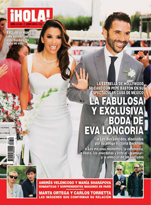 Andrés Velencoso y María Sharapova, portada ¡Hola!