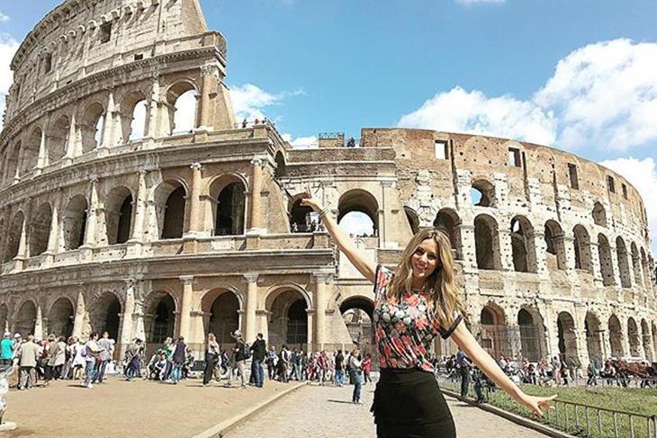 Edurne disfruta de unas vacaciones en Roma