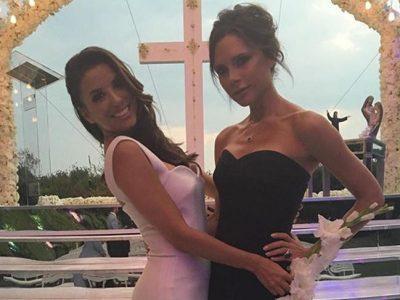 Eva Longoria se casa con Pepe Bastón vestida por Victoria Beckham