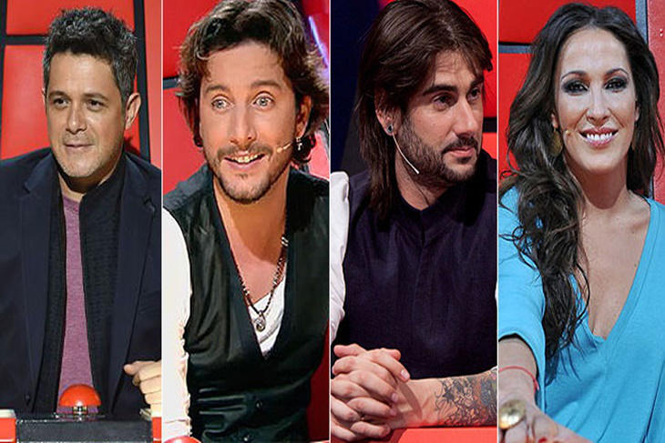 La Voz 4, confirmados los coaches, Alejandro Sanz, Malú, Melendi y Manuel Carrasco