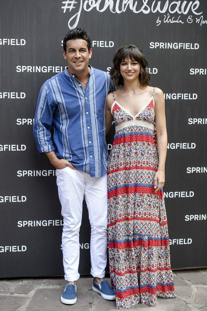 Mario Casas y Úrsula Corberó en la presentación de la campaña de Springfield