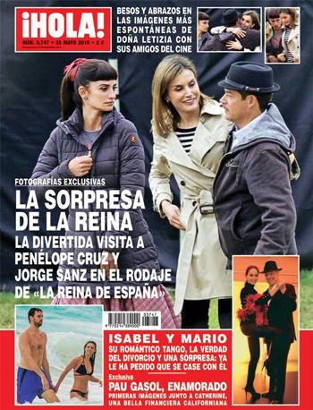 La Reina Letizia y Penélope Cruz en la portada de ¡Hola!