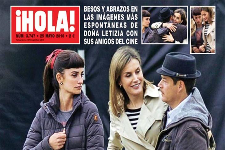 La Reina Letizia visita sorpresa a Penélope Cruz en el rodaje de 'La Reina de España'