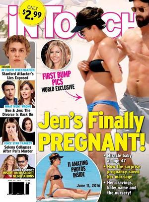 Jennifer Aniston embarazada portada InTouch