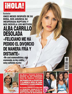 Alba Carrillo portada ¡Hola!