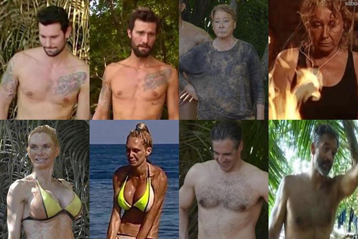 Supervivientes 2016, antes y después de los concursantes