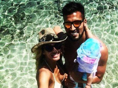 Tamara Gorro y Ezequiel Garay primeras vacaciones con Shaila en Ibiza