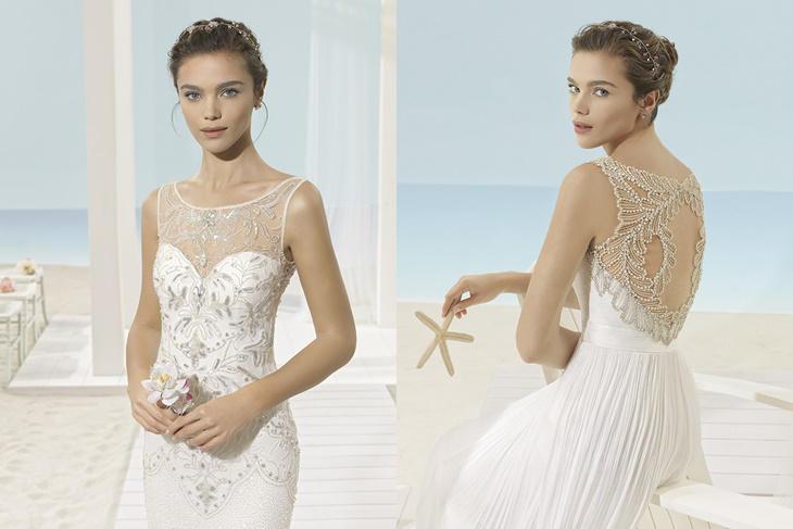 vestidos de novia aire barcelona 2017, colección para una boda en la
