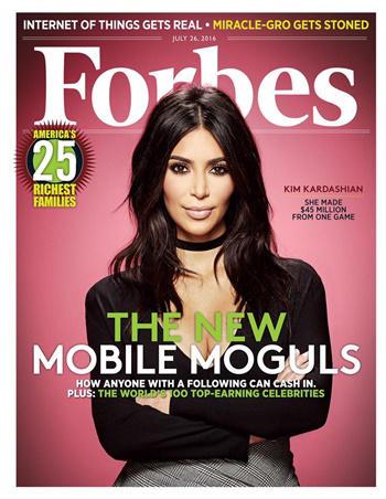 Kim Kardashian portada Forbes