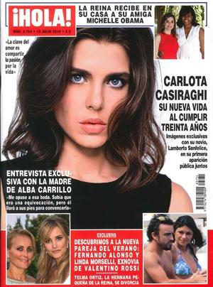 Fernando Alonso y Linda Morselli portada ¡Hola!