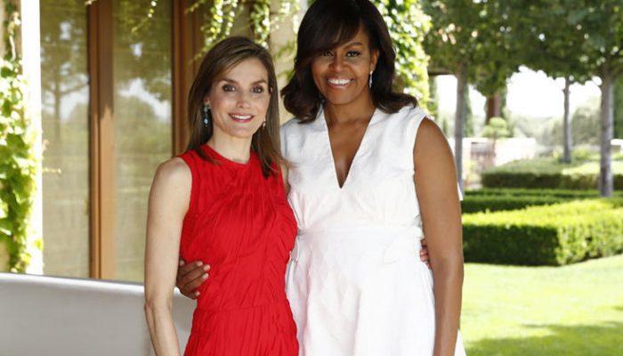 La Reina Letizia y Michelle Obama duelo de estilo con guiño a España