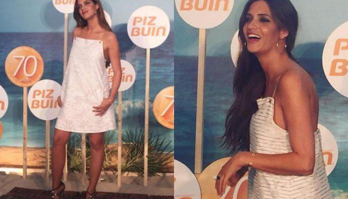 Sara Carbonero con look veraniego en el 70º aniversario de Piz Buin