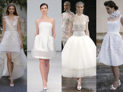 Vestidos de novia cortos 2017, ¡marca la diferencia!