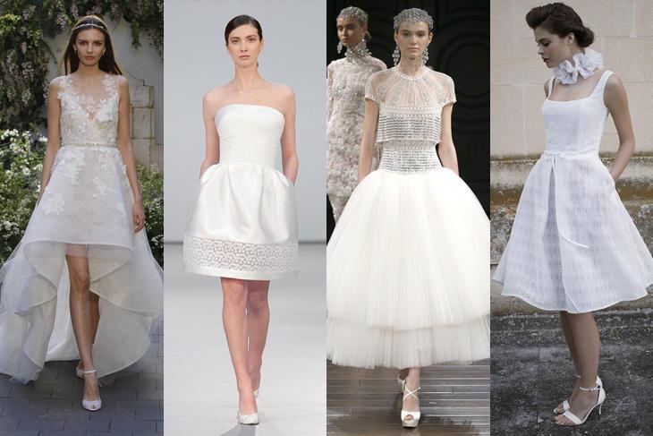 vestidos de novia cortos 2017, ¡marca la diferencia! [fotos] - mujeralia