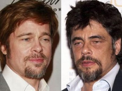 10 parecidos razonables entre famosos: Brad Pitt y Benicio del Toro