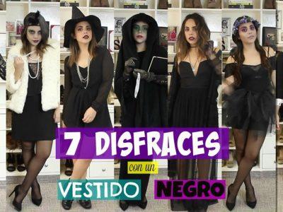 7 alucinantes disfraces de Halloween que puedes hacer con un vestido negro