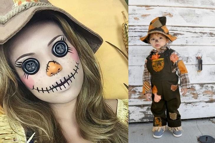 Disfraz de espantapjaros para nios en Halloween Los pasos