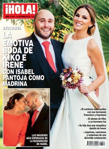 Kiko Rivera e Irene Rosales boda portada ¡Hola!