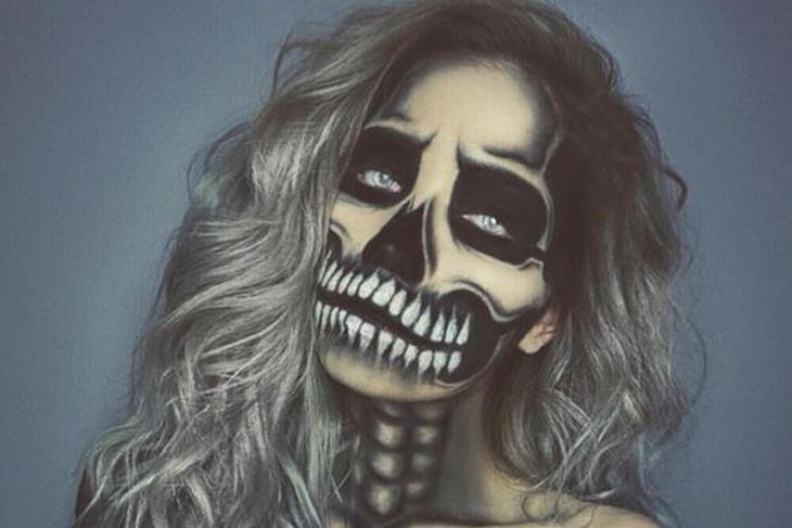 Maquillaje de calavera para Halloween paso a paso: Trucos