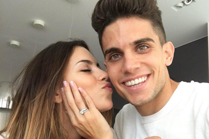 Melissa Jiménez y Marc Bartra boda a la vista, ¡se han prometido!