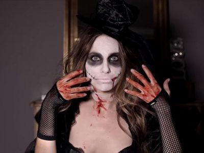 Vanesa Romero muestra su terrorífico maquillaje de Halloween