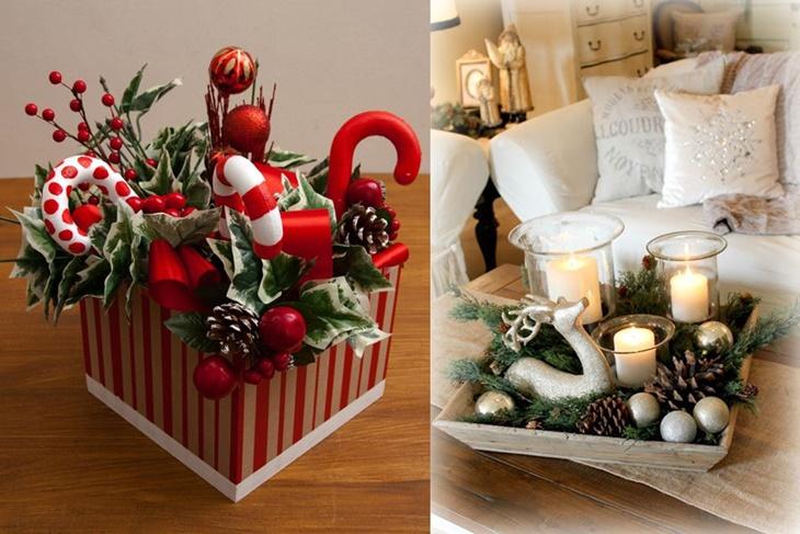 5 centros de mesa de navidad nicos y originales - Hacer centros de navidad ...