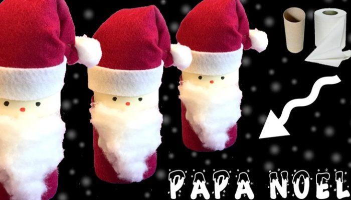 Manualidades de Navidad con rollos de papel higiénico: Papá Noel