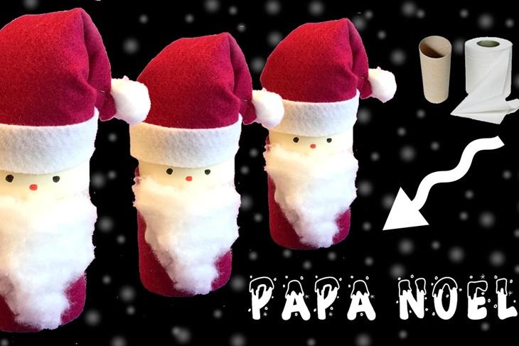 Manualidades De Navidad Con Rollos De Papel Higienico Papa Noel - Manualidades-de-navidad-de-papel