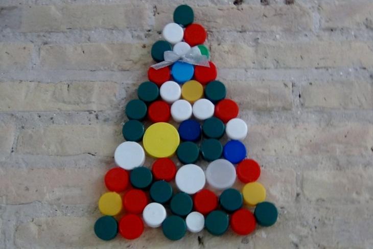 Manualidades de navidad con tapones de pl stico para ni os - Manualidad ninos navidad ...