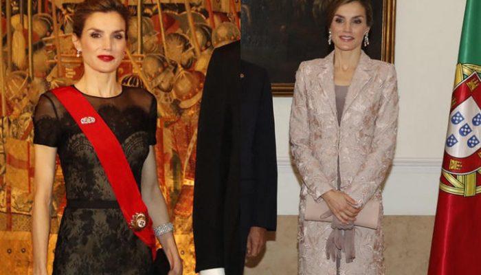 Reina Letizia repasamos sus looks en su visita a Portugal