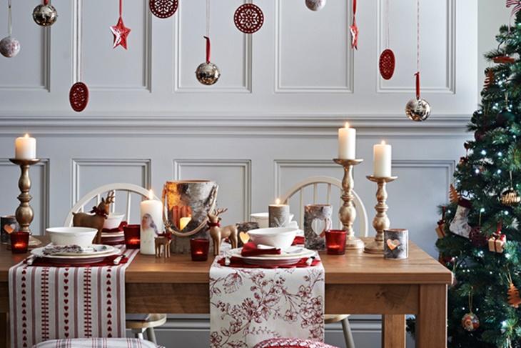 Resultado de imagen de mesa navidad nordica