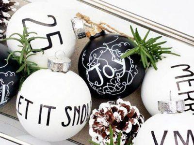 Decoración de Navidad en blanco y negro para tu casa