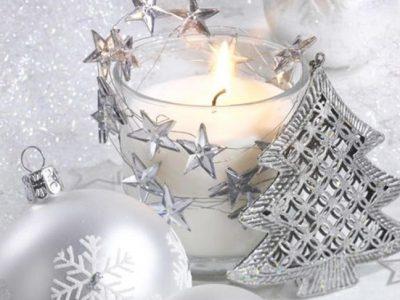 Decoración de Navidad en color plata, ideas únicas