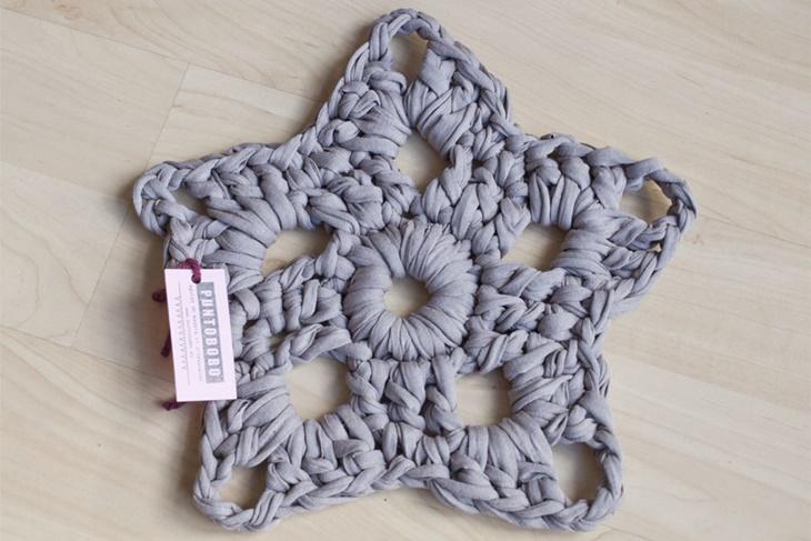 Estrella de navidad de crochet adornos en ganchillo Adornos a ganchillo