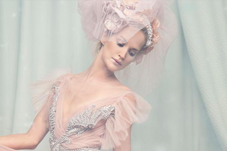 Vestidos de novia color pastel 2017, dulzura con estilo