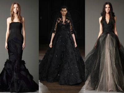 """Vestidos de novia negros 2017, ¿te atreves con tu lado """"dark""""?"""
