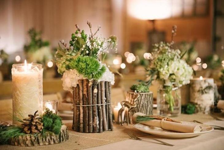 Centros de mesa para bodas de madera, ¡ideas increíbles!