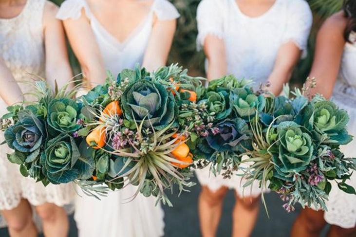 Ramos de novia con verduras y frutas, ¡las ideas más sorprendentes!