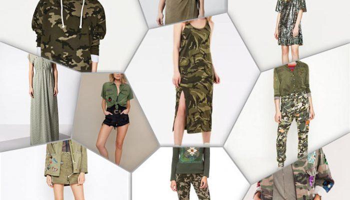 10 looks militares ideales para esta primavera 2017