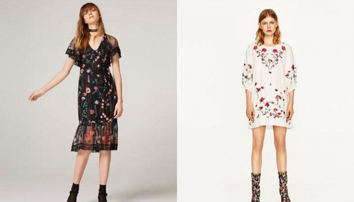 Vestidos con flores bordadas, la tendencia de la primavera 2017