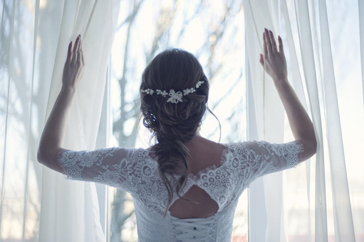 Peinados con coletas para novias, estilo casual y elegante