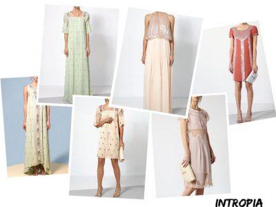 Vestidos de fiesta Intropia 2017, invitadas de boda de 10